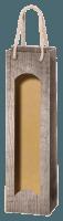 1er Papiertüte in Holzoptik mit Folienfenster