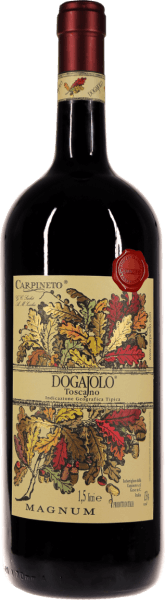 Der Dogajolo Toscano Rosso von Carpineto, jetzt auch in der eindrucksvollen Magnum-Flasche. Mehr erfahren Sie in der Expertise des Dogajolo Rosso.