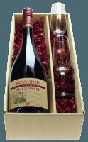 Fassbind Vieille Prune in Geschenkverpackung mit zwei Fassbind-Gläsern