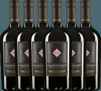 6er Vorteils-Weinpaket - Zolla Primitivo di Manduria DOP 2017 - Vigneti del Salento
