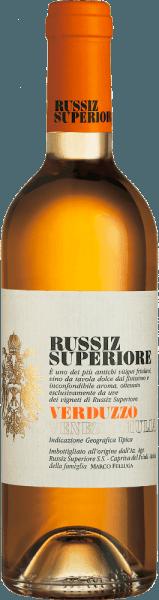 Dieser reinsortige Dessertwein aus dem Hause Russiz Superiore wird aus den Trauben der Rebsorte Verduzzo Friulano vinifiziert. Der Verduzzo Venezia Giulia von Russiz Superiore verströmt verführerisch süße Aromen von Aprikosen, Quitte und Honig. Diese Aromen spiegeln sich auch im Geschmack des Verduzzo wieder, der durch nussige Noten von Maronen abgerundet wird. Speiseempfehlung für denVerduzzo Venezia GiuliavonRussiz Superiore Dieser Dessertwein aus Norditalien passt wunderbar zu fruchtigen Desserts oder auch zu gereiftem Weichkäse.
