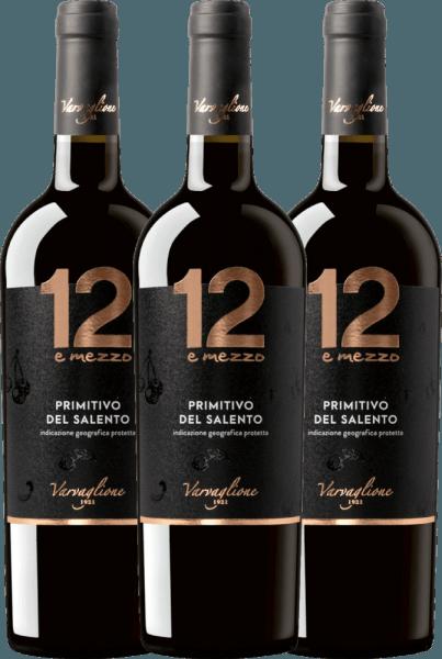 3er Vorteils-Weinpaket - 12 e Mezzo Primitivo 2019 - Varvaglione