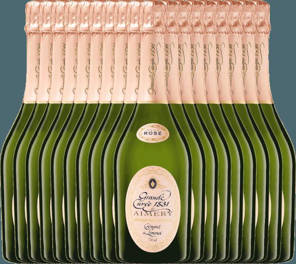 18er Vorteilspaket - Aimery Grande Cuvée 1531 Rosé Crémant Brut - Sieur d'Arques