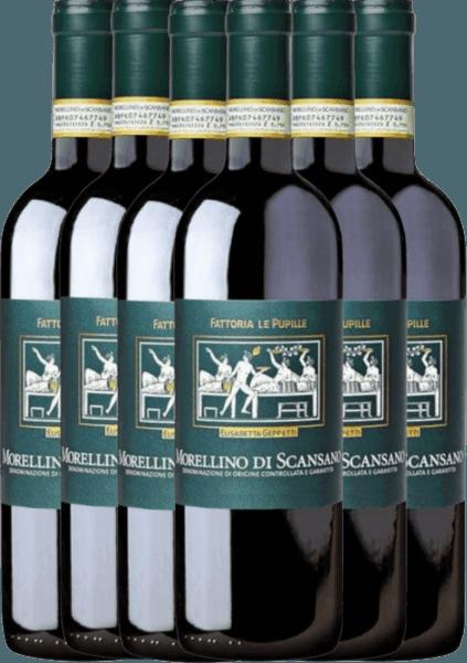 6er Vorteilspaket - Morellino di Scansano Riserva DOCG 2018 - Le Pupille