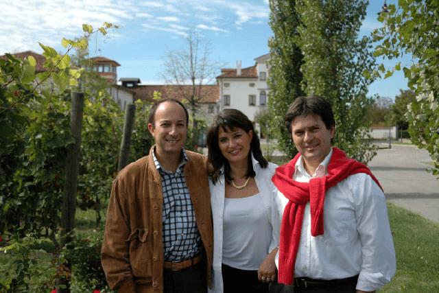 Lucia, Roberto und Carlo Paladin