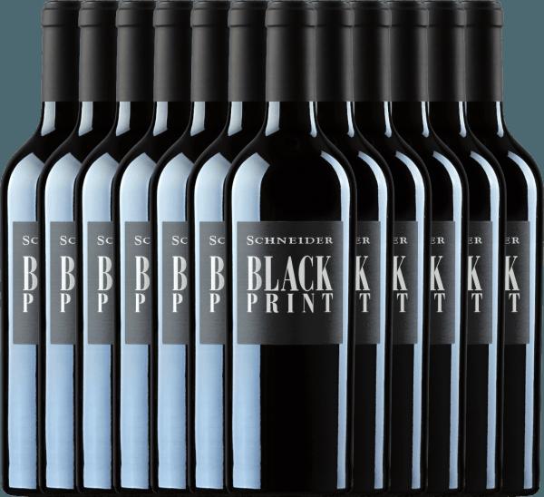 12er Vorteils-Weinpaket - Black Print trocken 2019 - Markus Schneider