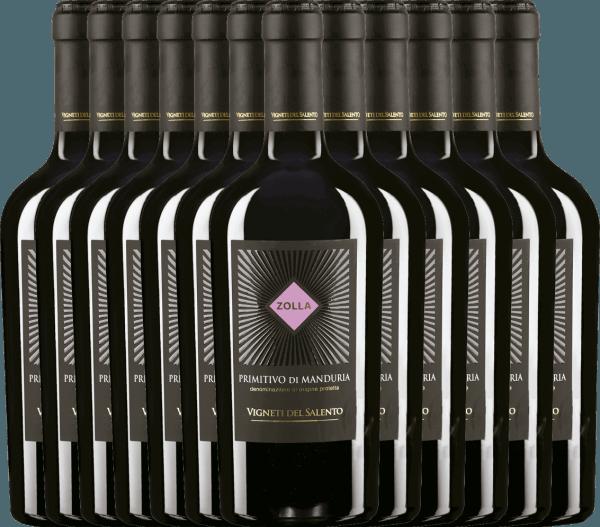 12er Vorteils-Weinpaket - Zolla Primitivo di Manduria DOP 2019 - Vigneti del Salento