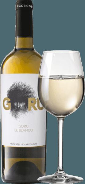 Der Goru El Blanco wurde aus dem Rebsorten Chardonnay und Moscatel vinifziert und glänzt in einer goldgelben Farbe. In der Nase sind üppig-reife Aromen nach Zitrusfrüchten, Quitten, Banane, Ananas, etwas Litschi und Papaya sowie typisch florale Noten der Muskateller-Traube zu erspüren. Am langen und runden Gaumen des Ego Bodegas Goru El Blanco offenbart sich ein sehr üppiger, fruchtig-reifer Wein mit weicher Säure und vollem Körper. Es bleibt ein angenehmer Nachgeschmack von weißen Trauben zurück. Vinifikation des Goru El Blanco von Ego Bodegas Die Chardonnay- und Monastrell-Trauben für den Goru El Blanco werden bei Nacht gelesen und der Most temperaturkontrolliert vergoren. Speiseempfehlung zum Ego Bodegas Goru El Blanco Wir empfehlen den Goru El Blanco zu hellen Reis- und Pastagerichten, zu Kürbis-Kreationen, Pilzpfannen, Kaninchengerichten, sahnigen Fisch-Kreationen sowie zu hellem Fleisch. Prämierungen für den Goru El Blanco Gilbert & Gaillard: Gold für 2017 International Wine Awards: Gold für 2017 Top wine: Gold für 2017