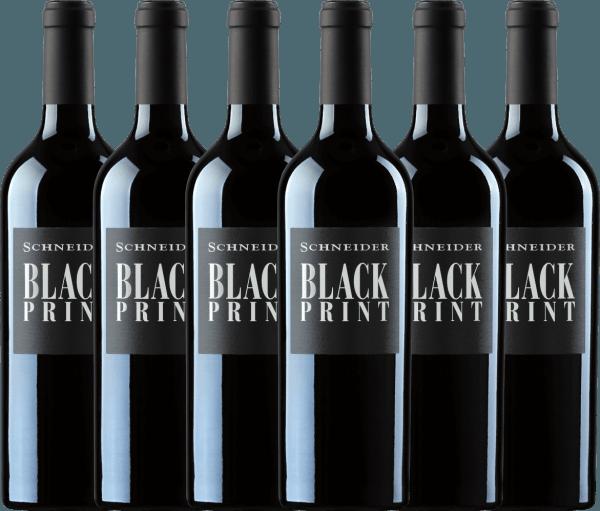 6er Vorteils-Weinpaket - Black Print trocken 2019 - Markus Schneider