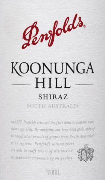 Koonunga Hill Shiraz 2018 - Penfolds von Penfolds Wines