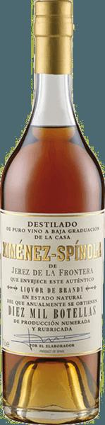 Der Brandy Criadera 10.000 botellas D.O.von Ximénez-Spinola präsentiert sich in einem dunklen Bernstein im Glas und verführt mit seinem weichen und aromatischen Bouquet. Dieses setzt sich harmonisch aus getrockneten Aprikosen, Datteln, nussigen Noten und einer edlen Röstaromatik zusammen. Dieser Branntwein aus Spanien ist am Gaumen dicht und kraftvoll, bevor er in einem langen und weichen Finale endet. Genießen Sie den Brandy Criadera als Digestif.