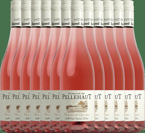 12er Vorteils-Weinpaket - Harmonie de Gascogne Rosé 2020 - Domaine de Pellehaut