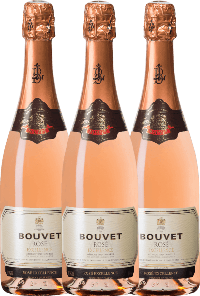Der Rose Brut Excellence von Bouvet schimmert zart lachsfarben im Sektglas. Mit einer feinen Perlage duftet dieser Crémant nach roten Früchten. Am Gaumen intensive rote Johannisbeeren, etwas Cassis und intensive Weinbergpfirsichfrucht. Sie erhalten diesen herrlichen Schaumwein nun im praktischen 3er Vorteilspaket. Mehr über diesen französischen Schaumwein erfahren Sie in der Expertise des Bouvet Ladubay Brut Rosé Excellence.
