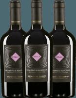3er Vorteils-Weinpaket - Zolla Primitivo di Manduria DOP 2017 - Vigneti del Salento