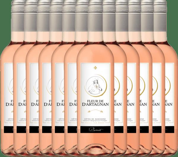 12er Vorteils-Weinpaket - Fleur de d'Artagnan Rosé 2019 - Plaimont