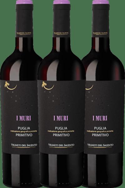 3er Vorteilspaket - I Muri Primitivo Puglia IGP 2019 - Vigneti del Salento