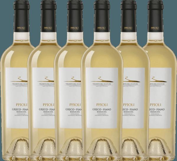 6er Vorteils-Weinpaket - Pipoli Greco Fiano IGT 2020 - Vigneti del Vulture