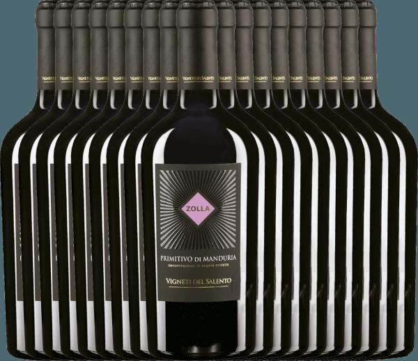 18er Vorteils-Weinpaket - Zolla Primitivo di Manduria DOP 2019 - Vigneti del Salento