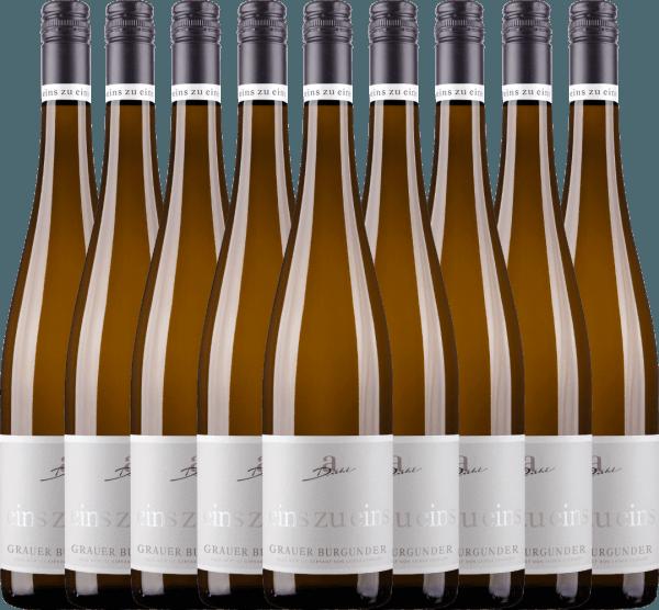 9er Vorteils-Weinpaket - Grauer Burgunder eins zu eins Kabinett 2020 - A. Diehl