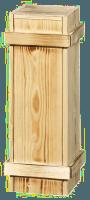 1er Holzkiste für MAGNUMFLASCHEN mit Schiebedeckel
