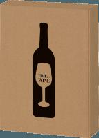 3er Präsentkarton Time for Wine natur Kraftpapier