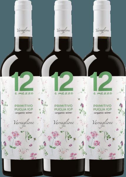 3er Vorteils-Weinpaket - 12 e Mezzo Primitivo Organic 2018 - Varvaglione