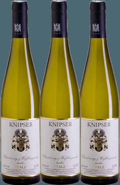 3er Vorteils-Weinpaket - Chardonnay & Weißburgunder 2019 - Knipser von Weingut Knipser
