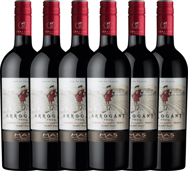 6er Vorteilspaket Ribet Red Cabernet Sauvignon Merlot 2019 - Arrogant Frog