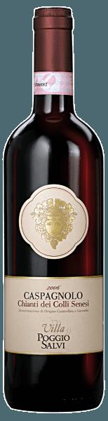 Dieser Rotwein aus Italien verzücktauch am Gaumen voll und ganz. Grund dafür ist unter anderem eine dezente Restsüße von 6,9 Gramm pro Liter, die den Caspagnolo Chianti Colli Senesi besonders weich macht. Im Bouquet dieses Rotweins aus der Weinanbau-Region die Toskana spüren wir Nuancen von allerlei roten und schwarzen Beerenfrüchten, ergänzt um würzige Nuancen. Der Villa Poggio Salvi Caspagnolo Chianti Colli Senesi präsentiert sich dem Weinenthusiasten angenehm trocken. Dieser Rotwein zeigt sich dabei nie grobschlächtig oder karg, sondern rund und geschmeidig. Das Finale dieses jugendlichen Rotwein aus der Weinbauregion die Toskana begeistert schließlich mit schönem Nachhall. Nach der Handlese gelangen die Trauben auf schnellstem Wege in die Kellerei. Hier werden sie selektiert und behutsam gemahlen. Es folgt die Gärung im Edelstahltank bei kontrollierten Temperaturen. Nach dem Ende der Gärung . Speiseempfehlung für den Caspagnolo Chianti Colli Senesi von Villa Poggio Salvi Trinken Sie diesen Rotwein aus Italien am besten temperiert bei 15 - 18°C als Begleiter zu