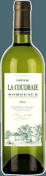 Der Château La Coudraie Bordeaux AOC von Vignobles Jolivet erstrahlt in einem hell leuchtenden Strohgelb mit grün-goldenen Glanzlichtern. Das sehr duftige, aromatische und frische Bouquet erinnert an reife Zitrusfrüchte, Geißblatt, Stachelbeeren, Akazien- und Lindenblüten, Pfirsich sowie etwas Jasmin und schwarze Johannisbeeren. Der aromatische und fruchtige Geschmack vermittelt Fülle, Kraft und eine herbe Frische. Auch am Gaumen sind die duftig eleganten Aromen des Bouquets wunderschön präsent. Ein klassischer weißer Bordeaux- frisch und ausgewogen, mit feiner Mineralität, guter Säure und schöner Frucht. Wir empfehlen ihn als Aperitif, zu Krebsen, Garnelen und frischen Austern, zu Lachstatar und Lachsklößchen, zu Fisch und Fischsuppen, zu leichten Quiches, mediterranen Gemüsegerichten oder feinwürzigem Ziegenkäse.