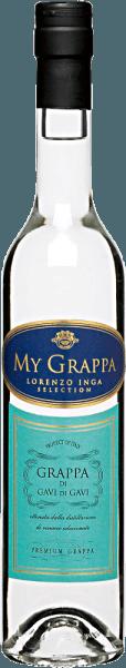 Der My Grappa Gavi di Gavi von Lorenzo Inga zeigt sich im klar im Glas und mit einem langanhaltenden und fruchtbetonten Aroma. Dieser feine Tresterbrand aus 100% Cortese-Trauben ist am Gaumen elegant mit dezenten Anklängen von Bittermandel. Servierempfehlung für den My Grappa Gavi di Gavi von Lorenzo Inga Genießen Sie diesen Grappa als Aperitif, Digestif oder zu einer Tasse Espresso.