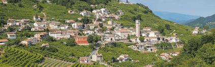 Die Hügel der Prosecco-Region