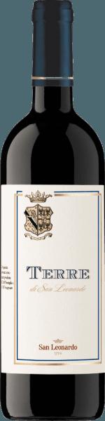 Diese wunderschön weinige Komposition aus 50% Cabernet Sauvignon, 40% Merlot und 10% Carmenere reifte im Barrique und präsentiert sich mit reicher Frucht. Die Cuvée Terre di San Leonardo der Tenuta San Leonardo überzeugt mit ausgewogenem Geschmack und einem raffiniertem zartbitteren Finale von aromatischer Länge, welches den Bordeaux-Stil dieses Rotweines untermalt. 80% der Cuvee reifte 80 Monate in großen Fässern, die übrigen 20% im Barrique. Auszeichnungen desTerre di San Leonardo IGT Trentino 2013 der Tenuta San Leonardo Doctor Wine: 90 Pkt. (Jg. 12)Bibenda: 4 Trauben (Jg. 2006 - 2012)Guida dell' Espresso: 17/20 Pkt. (Jg. 10 u. 11), 18,5/20 Pkt. (Jg. 10)Gambero Rosso: 2 Gläser (Jg. 2012 - 2006)