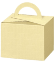 Tragekarton cream offene Welle mit Griff