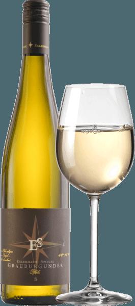 Der Grauburgunder von Ellermann-Spiegel aus der Pfalz verzaubert im Glas mit strahlend hellgelber Farbe. Der erste Eindruck in der Nase ist außergewöhnlich fruchtig. Viel reife Birne, saftige Mirabellen, exotische Maracuja und weitere tropische Früchte kommen in den Sinn. Weiter geht der Aromenreigen mit blumig-kräutrigen Noten einer Sommerwiese. Am Gaumen ist der pfälzische Grauburgunder Gutswein von Ellermann-Spiegel nicht weniger eindrucksvoll, saftig und frisch. Im Finale wieder viel Frucht, gepaart mit einer frischen und vitalen Säure und einem süffigen Schmelz. Schluck für Schluck der pure Genuss. Herrlich! Vinifikation des Ellermann-Spiegel Grauburgunders Frank Spiegel hat seinen Grauburgunder Gutswein größtenteils im Edelstahltank vinifiziert, um die Fruchtigkeit der Rebsorte besonders deutlich zur Geltung zu bringen. 10% wurden zudem in Barriquefässern ausgebaut um diesem Grauburgunder eine besonders samtige und zusätzlich würzige Aromatik zu verleihen. Speiseempfehlung und Degustationstipp für den Grauburgunder von Frank Spiegel Genießen Sie diesen herrlichen Pfälzer Weißwein am besten zu Meeresfrüchten und Fisch, zu einem Wiener Schnitzel, zu Schweinekotelett mit Salbei oder einfach nur solo auf der Terrasse oder dem Balkon.