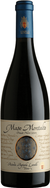 Dieser reine Pinot Nero besticht mit einem charakteristischen intensiven Bouquet von Waldbeeren. Der Maso Montalto Trentino Pinot Nero DOC von Azienda Agricola Lunelli verwöhnt mit einem würzigen und harmonischen Geschmack samt Holznoten und einer großartigen Nachhaltigkeit. Er harmoniert perfekt mit Kurzgebratenem, Pasta-Gerichten, kaltem Braten und mittelreifem Käse.