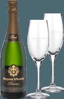 Valentinstags-Paket Reserva Brut DO inkl. 2 Cava-Gläser - Segura Viudas