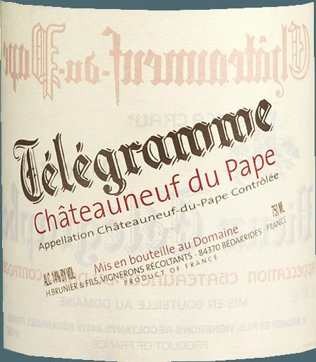 Télégramme Châteauneuf-du-Pape AOC 2018 - Vignobles Brunier von Vignobles Brunier