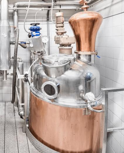 Destillationskolben bei Segnana