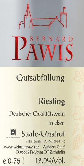 Riesling trocken 2019 - Pawis von Weingut Bernhard Pawis