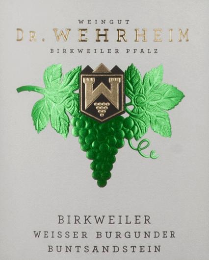Birkweiler Weißer Burgunder Bundsandstein 2019 - Dr. Wehrheim von Dr. Wehrheim