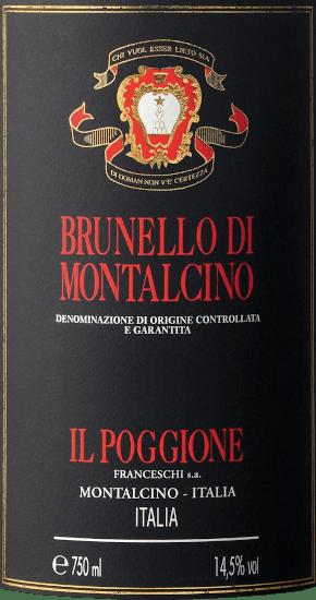 Brunello di Montalcino DOCG 2014 - Tenuta il Poggione von Tenuta Il Poggione