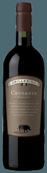 DerCeccante Toscana IGTvonAzienda Il Grillesino schillertin einem dichten, satten Rubinrot.Das kräftige, vielschichtige Bouquet erinnert an vollreife dunkle Beeren (Cassis) und saftige Kirschen, die den vollen, komplexen Charakter dieses Rotweines widerspiegeln. Aromen von Dörrpflaumen und warme, schön eingebundene Würznoten von Lakritz und Vanille gesellen sich dazu. Am fein strukturierten und zugleich fülligen Gaumen enthüllt erspürbar griffiges Tannin undeinen vollen Geschmack nach reifen Fruchtaromen und viel Würze, der in einen langen, kraftvollen Abgang mündet.  Reichen Sie ihn zu kräftigen Fleischgerichten mit dunklen Soßen oder zu Schokoladendesserts.Dieser sortenreine Cabernet reifte 18 Monate im Barrique und anschließend noch ein weiteres Jahr in der Flasche.