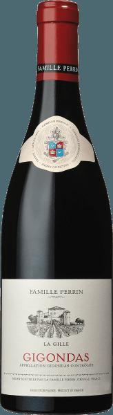 Das kraftvolle und feine Bukett des Perrin & Fils La Gille Gigondas AOC von Perrin & Fils verwöhnt mit einer wunderschönen Duftpalette von angenehm mediterranen Gewürznoten, einer schmeichelnden und konzentrierten Frucht, einer feinen, frischen Würze mit Anklängen an Erdbeerkonfitüre sowie feinen Röstnoten und Schokolade. Die Cuvée aus der Weinregion Côtes du Rhône kommt mit einem herrlichen purpurrot ins Glas. Der stoffige Gaumen gibt sich blumig, aromenreich, sehr reintönig und schmeichelt mit samtiger Weichheit und konzentrierter Frucht. Feine Tannine und eine unendliche Fülle runden diesen Rotwein ab. Speiseempfehlung für den La Gille von Perrin & Fils Servieren Sie ihn zu mediterranen Fleischgerichten, Pilzen, dunklem Geflügel und Wild.