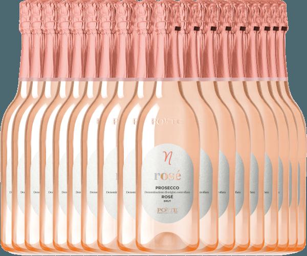 18er Vorteilspaket - Prosecco Spumante Rosé Brut DOC 2020 - Ponte