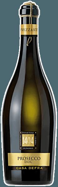 Der Prosecco frizzante DOP von Casa Defra erstrahlt in einer hellen strohgelben Farbe im Glas.Die Nase verwöhnt er mit fruchtigen Aromen nach Zitrusfrüchten und Äpfeln. Am Gaumen brilliert er mit einem schönen aromatischen Fruchtspiel bei einer sehr subtilen Restsüße, ehe er in den erfrischenden Abgang mündet.Insgesamt ein lebhafter, prickelnder, sehr trinkbarer und typischer Frizzante. Speisempfehlung zumProsecco frizzante DOP von Casa Defra Wir empfehlen ihn als Aperitif, zu Fingerfood, Antipasti oder als Alternative zu einem Espresso.