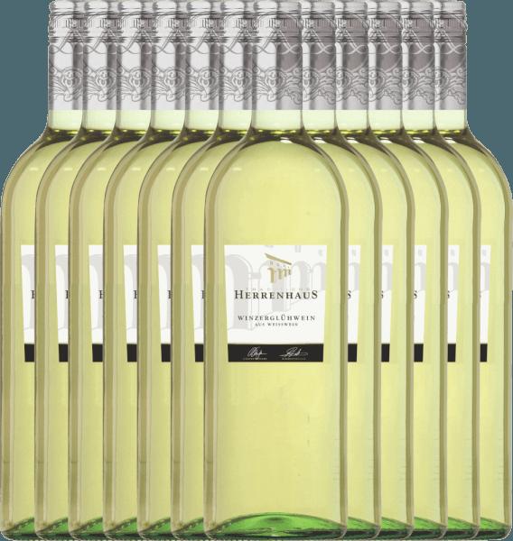 12er Paket - Weißer Herrenhaus Winzerglühwein 1,0l - Lergenmüller