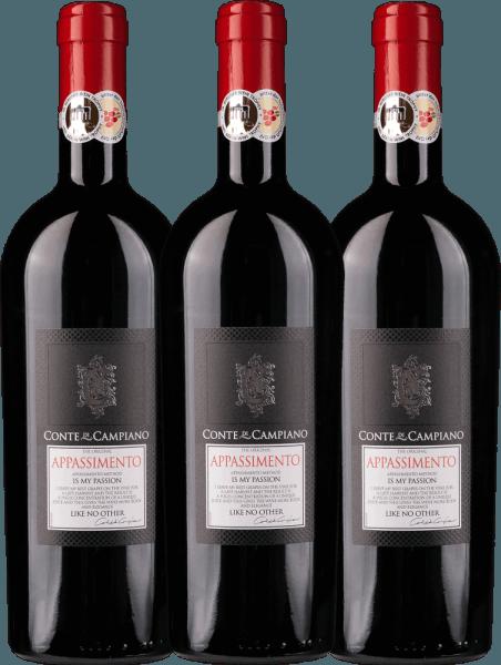3er Vorteils-Weinpaket - Appassimento 2016 - Conte di Campiano