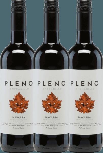 3er Vorteilspaket - Pleno Tempranillo Tinto DO 2019 - Bodegas Agronavarra