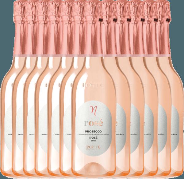 12er Vorteilspaket - Prosecco Spumante Rosé Brut DOC 2020 - Ponte